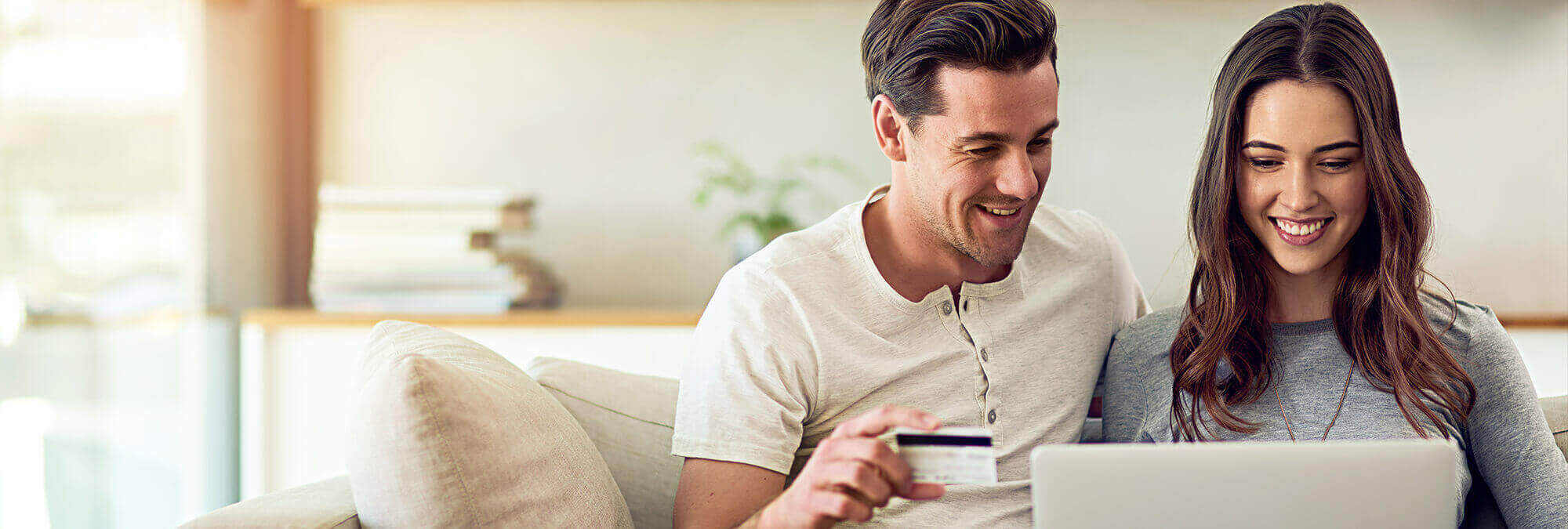 couple paying a bill online together